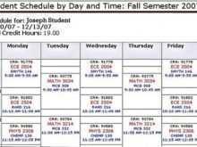 98 Blank Class Schedule Template College Templates for Class Schedule Template College
