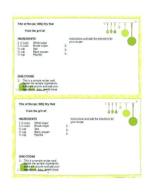 98 Create 3 X 5 Recipe Card Template Word Layouts for 3 X 5 Recipe Card Template Word