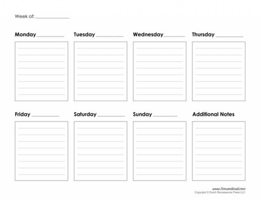 98 Creative 7 Day Class Schedule Template Formating by 7 Day Class Schedule Template