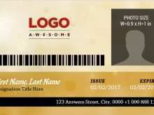 Id Card Template For Publisher