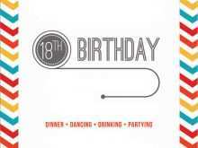 98 Format 18Th Birthday Card Template Free Templates for 18Th Birthday Card Template Free