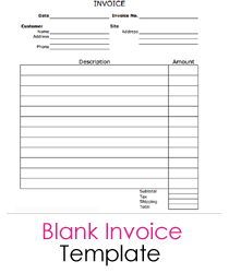 98 Free Blank Invoice Receipt Template With Stunning Design with Blank Invoice Receipt Template