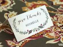 98 Online Free Printable Thanksgiving Place Card Template with Free Printable Thanksgiving Place Card Template