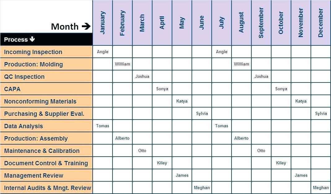 Internal Audit Plan Template Xls Cards Design Templates