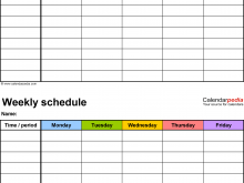 98 Printable 7 Day Class Schedule Template in Word for 7 Day Class Schedule Template
