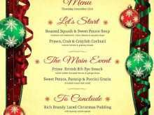 98 Report Christmas Menu Card Template Free Layouts by Christmas Menu Card Template Free