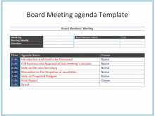 Meeting Agenda Template Old Business