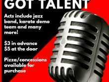School Talent Show Flyer Template