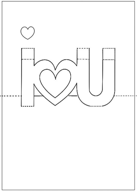 98 Standard Pop Up Card Template Love Download for Pop Up Card Template Love