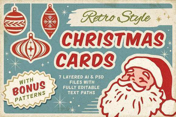 98 Standard Retro Christmas Card Templates Now with Retro Christmas Card Templates
