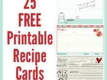 Recipe Card Template 8.5 X 11
