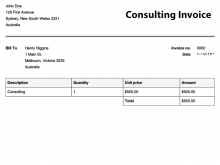 99 Adding Basic Consulting Invoice Template in Photoshop with Basic Consulting Invoice Template