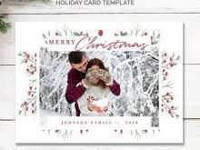 Christmas Ornament Card Template