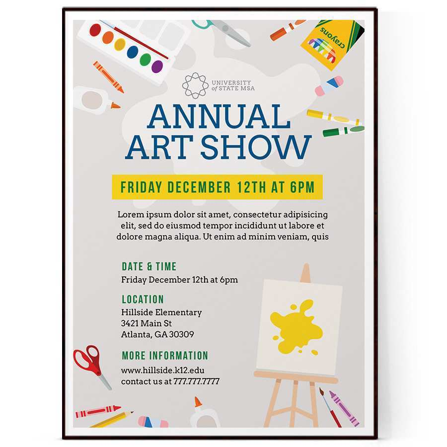99 Creating Art Show Flyer Template Free Maker by Art Show Flyer Template Free