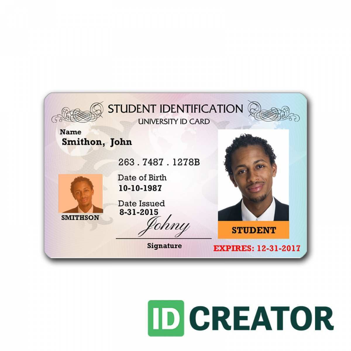 99 Creating Id Card Template Online Free By Id Card Template Online Free Cards Design Templates