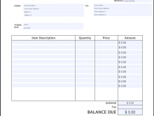 99 Creative Company Invoice Template Free For Free for Company Invoice Template Free