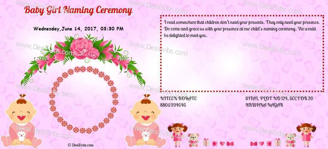 99 Customize Our Free Invitation Card Format Naming Ceremony with Invitation Card Format Naming Ceremony