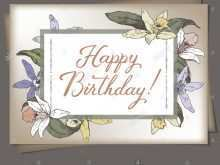 99 Format Birthday Card Template Romantic Photo with Birthday Card Template Romantic