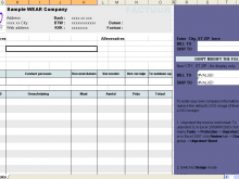 Invoice Hotel Form Excel