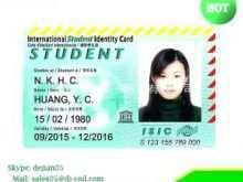 99 Report University Id Card Template Templates by University Id Card Template