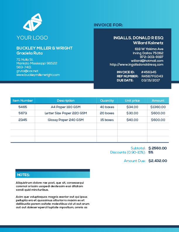 99 Standard Blank Invoice Template Indesign Now by Blank Invoice Template Indesign