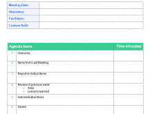 99 Standard Meeting Agenda Template With Attendees For Free for Meeting Agenda Template With Attendees