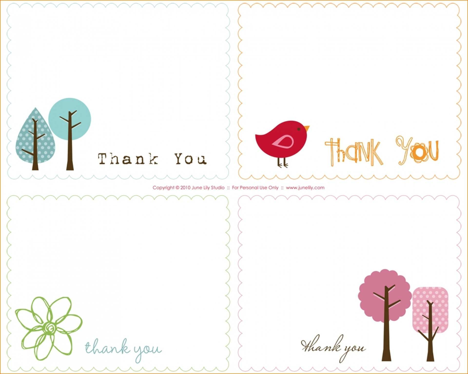 Thank You Card Word Template from legaldbol.com