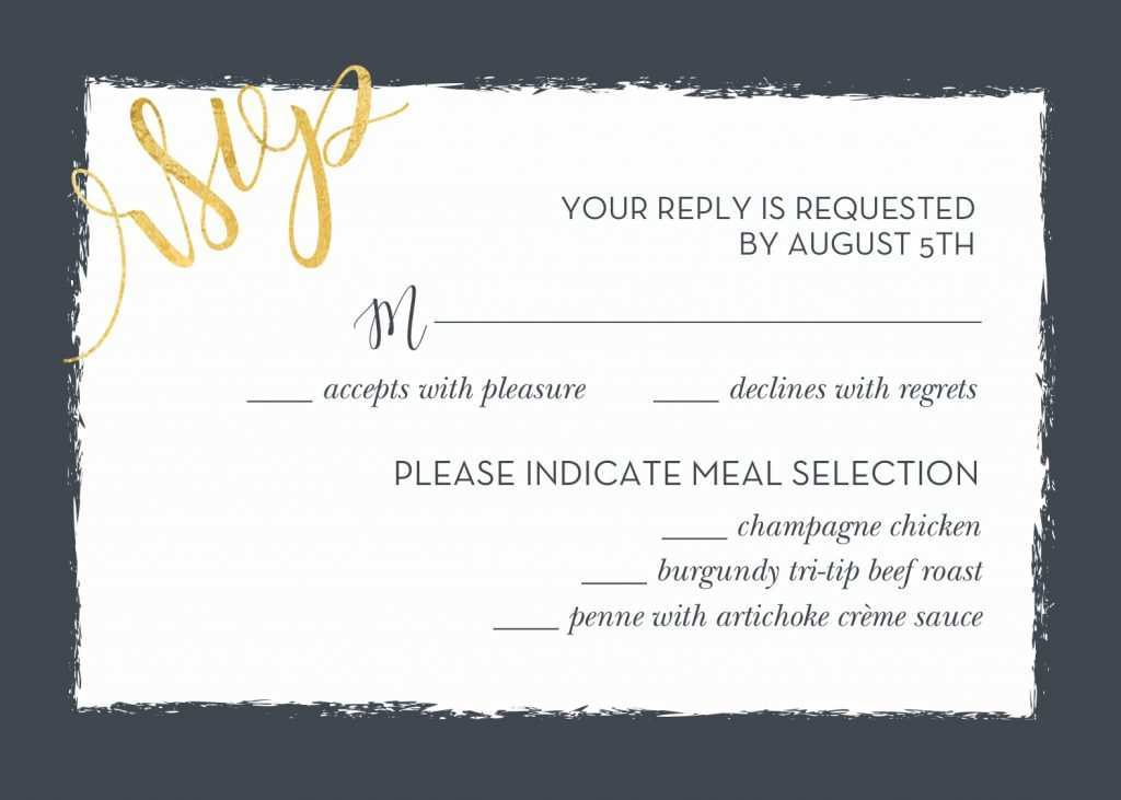 99 The Best Invitation Card Rsvp Template With Stunning Design by Invitation Card Rsvp Template