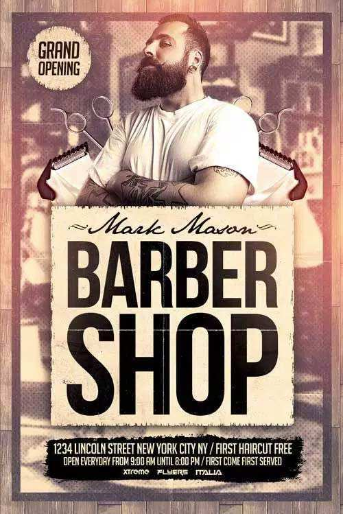 99 Visiting Barber Shop Flyer Template Free Now by Barber Shop Flyer Template Free