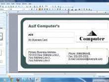 How To Make Business Card Template Word