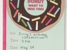 11 Creative Donut Birthday Invitation Template Download by Donut Birthday Invitation Template