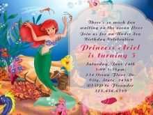 11 Format Ariel Birthday Invitation Template Now by Ariel Birthday Invitation Template