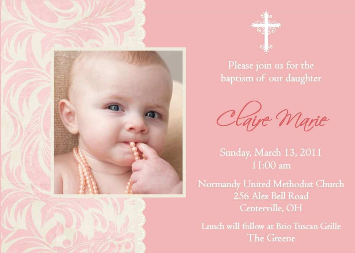 11 Standard Baby Girl Christening Blank Invitation Template for Ms Word with Baby Girl Christening Blank Invitation Template
