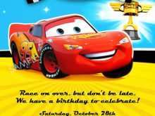 12 Format Birthday Invitation Template Cars Now for Birthday Invitation Template Cars