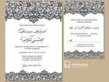 12 Format Lace Wedding Invitation Template in Photoshop by Lace Wedding Invitation Template