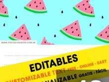 Watermelon Birthday Invitation Template