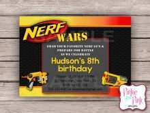 13 Create Free Nerf Birthday Party Invitation Template For Free with Free Nerf Birthday Party Invitation Template