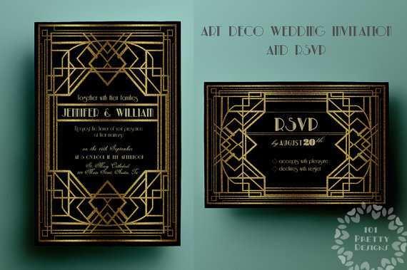 13 Free Gatsby Wedding Invitation Template Free With Stunning Design by Gatsby Wedding Invitation Template Free