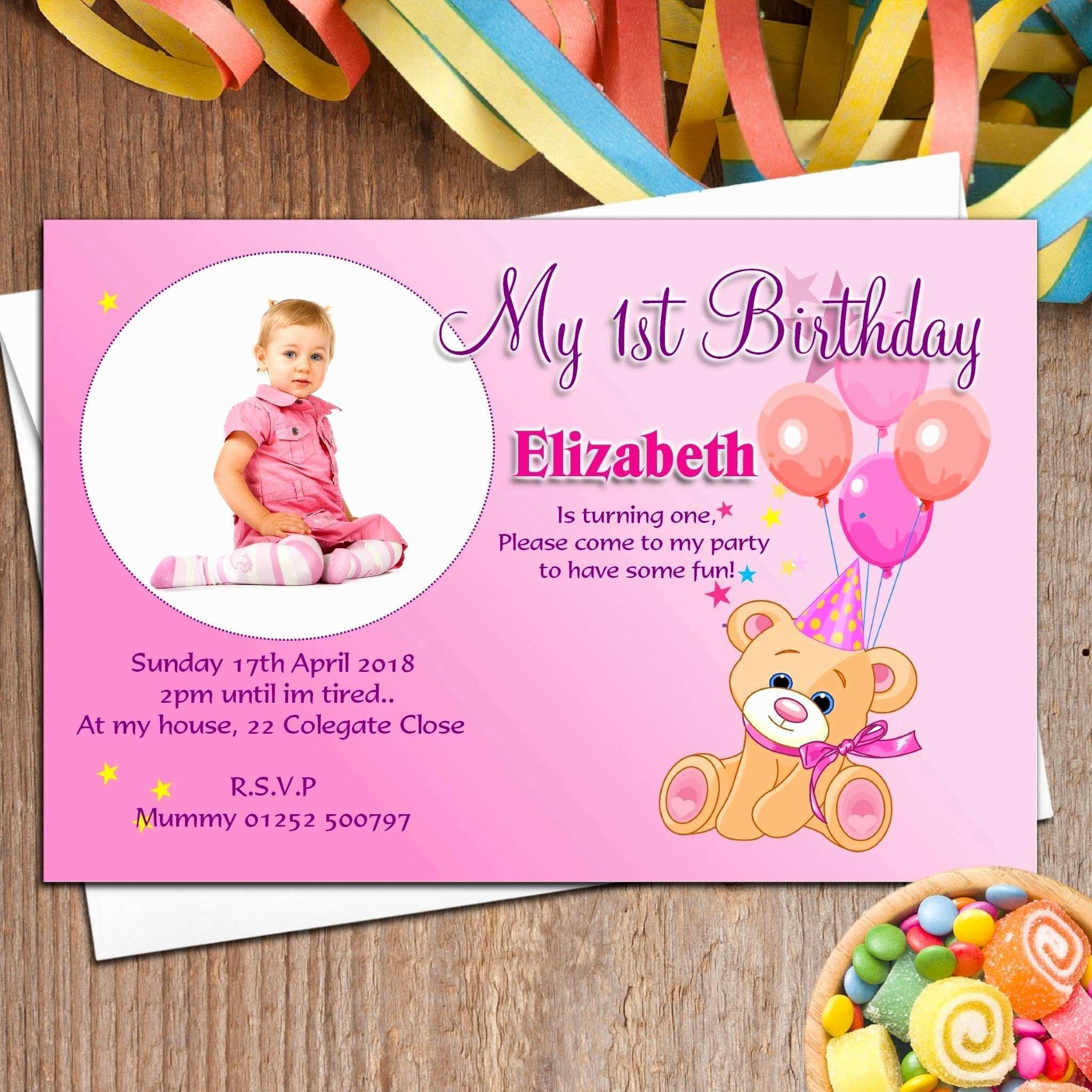 5 Printable Birthday Invitation Template Marathi With Stunning