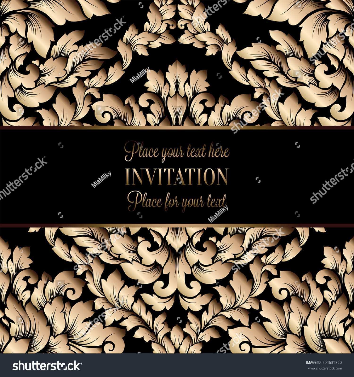 5 Blank Vector Invitation Template Java Photo by Vector