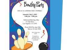 15 Create Bowling Party Invitation Template Photo for Bowling Party Invitation Template