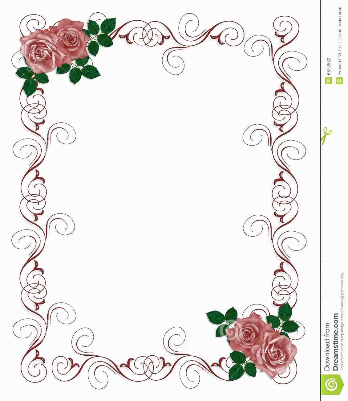 15 Standard Floral Blank Invitation Template PSD File for Floral Blank Invitation  Template - Cards Design Templates