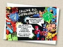 16 Format Birthday Invitation Template Superhero For Free by Birthday Invitation Template Superhero