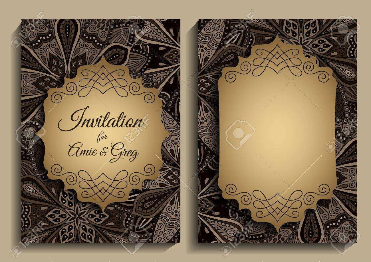 3 Online Elegant Birthday Invitation Vector Template For Free for