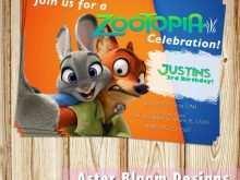 Zootopia Birthday Invitation Template
