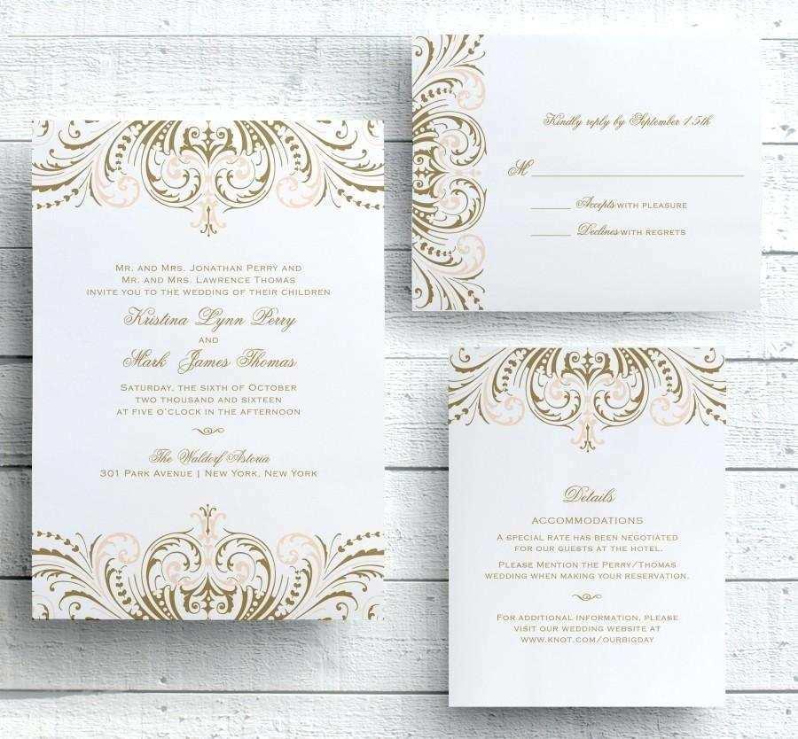 17 Format Gatsby Wedding Invitation Template Free PSD File by Gatsby Wedding Invitation Template Free