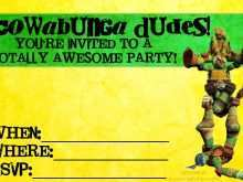 17 How To Create Ninja Party Invitation Template Free With Stunning Design by Ninja Party Invitation Template Free