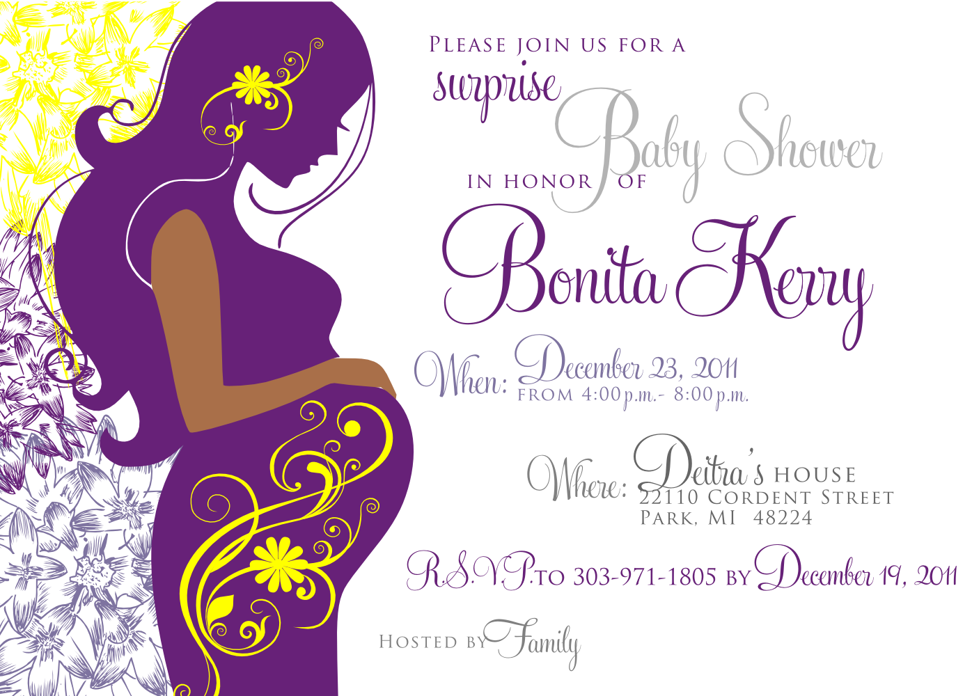 21 The Best Elegant Baby Shower Invitation Templates With Stunning Pertaining To Free Baby Shower Invitation Templates Microsoft Word
