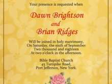 Reception Invitation Format In English
