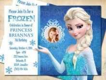 Elsa Birthday Invitation Template